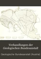 Verhandlungen der Geologischen Bundesanstalt: Band 1906