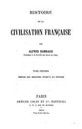 Histoire de la civilisation française: Volume1