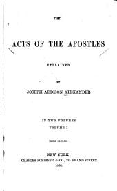 The Acts of the Apostles: Volume 1