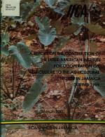 A Report on the Contribution of the Inter-american Institute for Cooperation on Agriculture to the Agricultural Detor in Jamaica During 1999