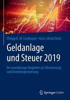 Geldanlage und Steuer 2019 PDF