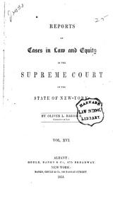 Reports of Cases in Law and Equity Determined in the Supreme Court of the State of New York