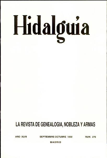 Revista Hidalguia Numero 276 Ano 1999