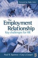 The Employment Relationship  Key Challenges for HR PDF