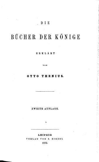 Die B  cher der K  nige PDF