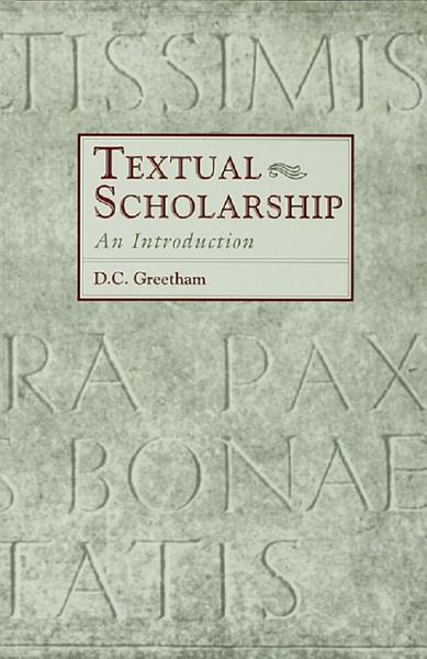 Download Textual Scholarship Book