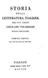 Storia della letteratura italiana: Volume 7,Edizione 2