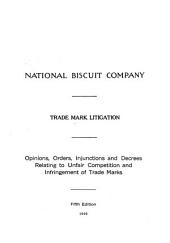 National Biscuit Company: Trade Mark Litigation