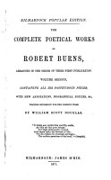 The Complete Poetical Works of Robert Burns  Posthumous poems and songs  Bibliotheca  p   415  444  PDF