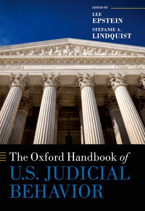 The Oxford Handbook of U  S  Judicial Behavior PDF
