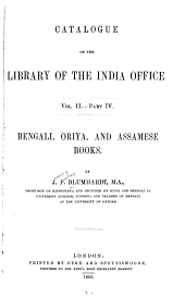 Catalogue of the Library of the India Office ...: pt. 1. Sanskrit books. [By R. Rost] 1897