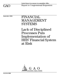Financial Management Systems Hhs Faces Many Challenges In Implementing Its Unified Financial Management System Testimony Before The Subcommittee On Government Efficiency And Financial Management Committee On Government Reform House Of Representatives Book PDF