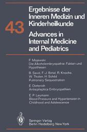 Advances in Internal Medicine and Pediatrics/Ergebnisse der Inneren Medizin und Kinderheilkunde