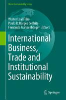 International Business  Trade and Institutional Sustainability PDF