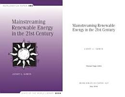 Mainstreaming Renewable Energy in the 21st Century PDF