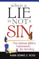 When a Lie Is Not a Sin