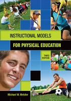 Instructional Models in Physical Education PDF