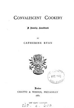 Convalescent Cookery