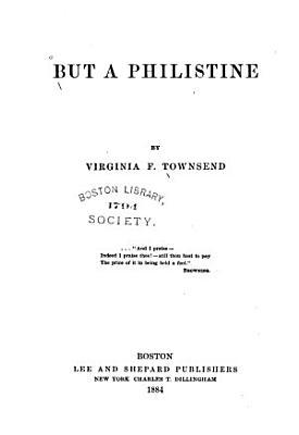 But a Philistine PDF