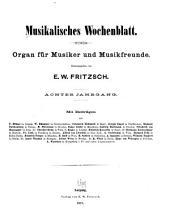 Musikalisches Wochenblatt: Band 8,Teil 1