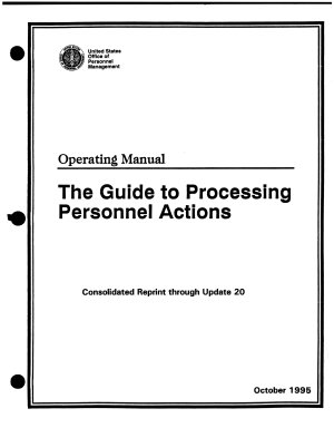 The Guide to Processing Personnel Actions PDF