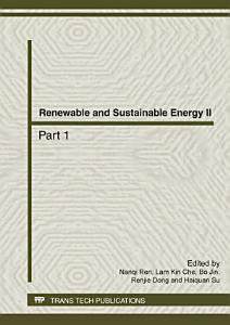 Renewable and Sustainable Energy II