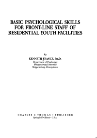 Basic Psychological Skills for Front line Staff of Residential Youth Facilities PDF
