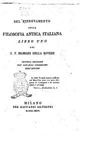 Del rinnovamento della filosofia antica italiana C.T. Mamiani della Rovere