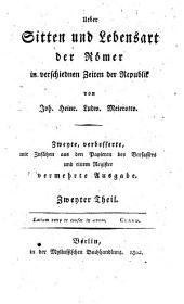 Über Sitte und Lebensart der Römer: Teil 2
