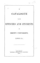 Catalogue of the Officers and Students of Brown University