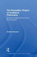 The Russellian Origins of Analytical Philosophy PDF