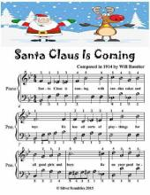 Santa Claus Is Coming Easiest Piano Sheet Music Junior Edition