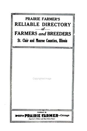 Prairie Farmer s Directory of St  Clair and Monroe Counties  Illinois PDF
