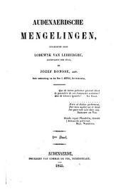 Audenaerdsche mengelingen: Volume 1