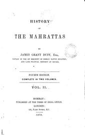 History of the Mahrattas: Volume 2