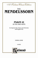 As the Hart Pants (Psalm 42): Satb with SS Soli (Orch.) (English Language Edition)