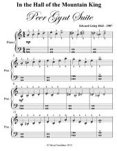 In the Hall of the Mountain King Peer Gynt Suite - Easiest Piano Sheet Music