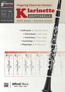 Grifftabelle Fr Klarinette Deutsches System   Fingering Charts for Clarinet Oehler System PDF