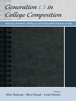 Generation 1 5 in College Composition PDF