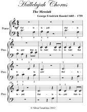 Hallelujah Chorus the Messiah - Beginner Piano Sheet Music