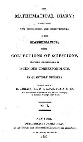 The Mathematical Diary: Volume 1