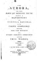 The Aurora or  The Dawn of Genuine Truth PDF