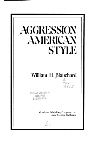 Aggression American Style