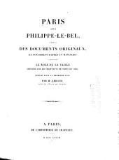 Paris sous Philippe - le - Bel: d'après des documents originaux et notamment d'après un manuscript contenant Le Rôle de la taille imposée sur les habitants de Paris en 1292, Numéro35