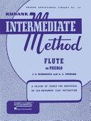 Rubank Intermediate Method   Flute Or Piccolo