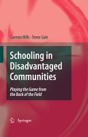 Schooling in Disadvantaged Communities PDF