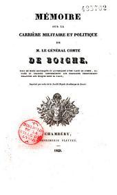 Mémoire sur la carrière du Général Comte de Boigne