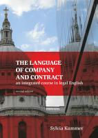 The Language of Company and Contract PDF