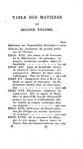 Tableau des révolutions du système politique de l'Europe depuis la fin du quinzième siècle: Partie1,Volume2