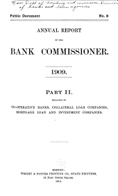 Annual Report of the Commissioner of Banks: Part 2